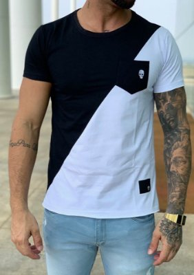 T-Shirt Black White - John Jones