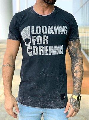 Camiseta Longline Looking For Dreams - John Jones