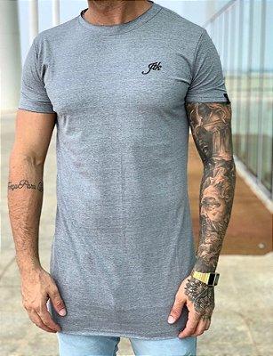 Camiseta Longline Cinza Faixa Costas - JTK