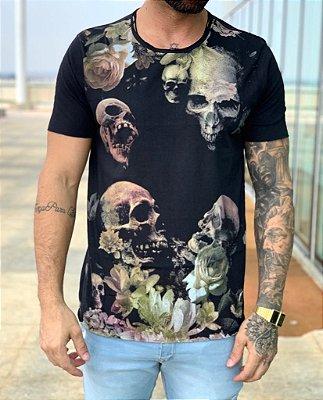 T-shirt Black Caveiras - Derekho
