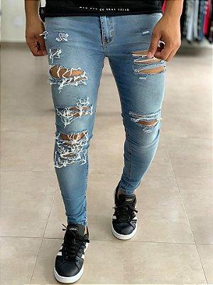 Calça Jeans Skinny Hiper Destroyed - Creed Jeans