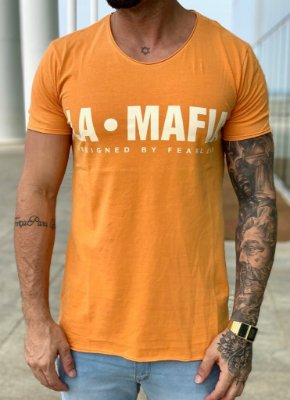 Camiseta Longline Watch Out - La mafia