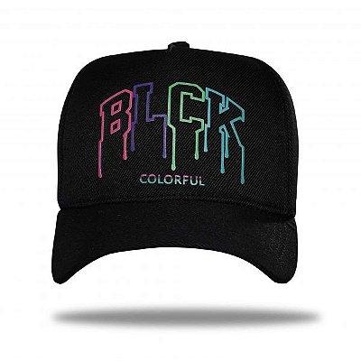 Boné Snapback Letters Colorful Black - BLCK Brasil