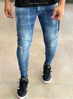 Calça Jeans Skinny Riscado - Kawipii