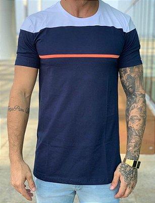 Camiseta Longline Donati Marinho - Black West