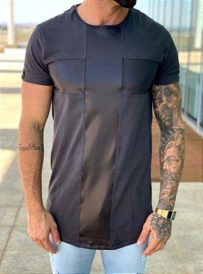 Camiseta Longline Detalhe Cadarço - King Joy