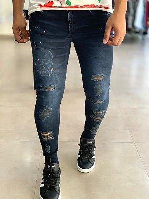 Calça Jeans Skinny Dark Skull - John  Jones