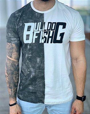 T-Shirt Meio a Meio V/B - Bulldog Fish