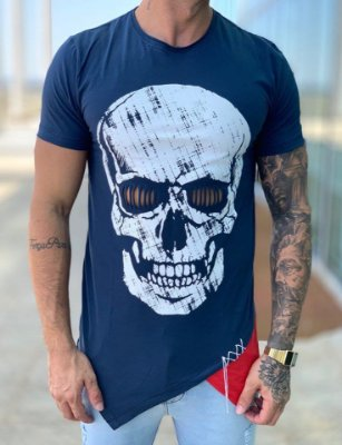 Camiseta Longline Caveira - King Joy