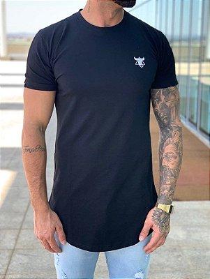 Camiseta Longline Black Bravery - Totanka