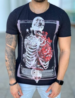 T-shirt Skeleton Lung Preto - Derekho