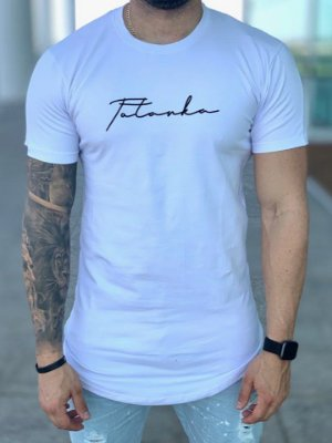 Camiseta Longline White Ancestral - Totanka