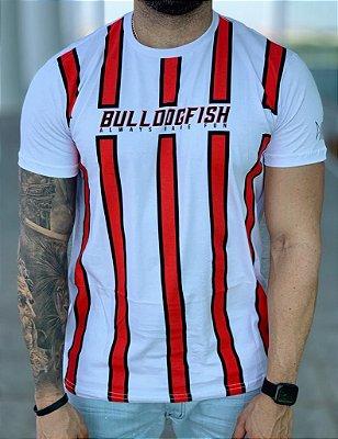 T-shirt White Listras - Bulldog Fish