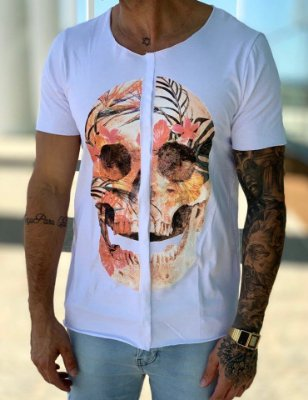 T-Shirt Tropical Skull - Wolke