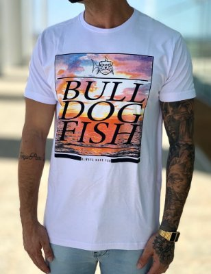T-shirt White  Colors - Bulldog Fish