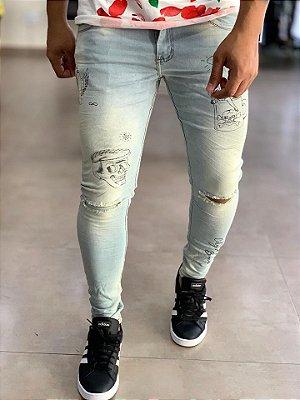 Calça Jeans Skinny Old Skull - City Denim