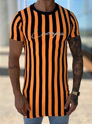 Camiseta Longline Listrada L/P - Lacapa