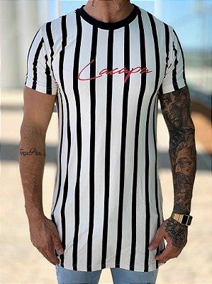 Camiseta Longline Listrada Thick P/B - Lacapa