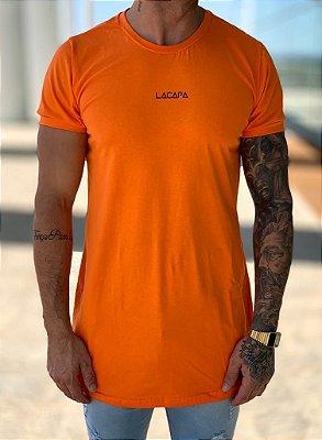 Camiseta Longline Orange Triangle - Lacapa