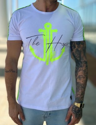Camiseta Longline  Fluor White Green - The Hope