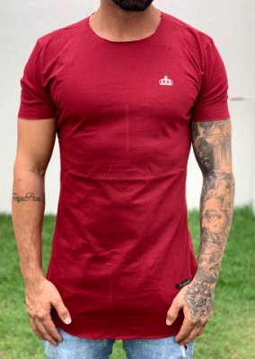 Camiseta Longline Bordô Wings - Kreta