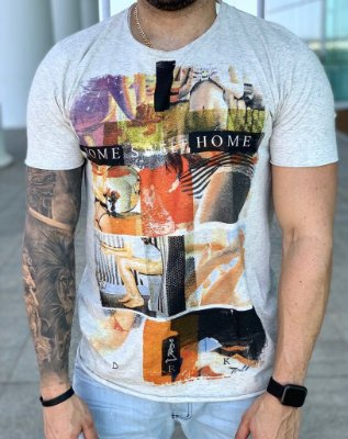 T-shirt Home Sweet Home Grey - Derekho