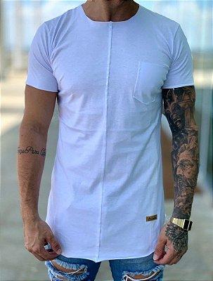 Camiseta Longline White Wings - Kreta