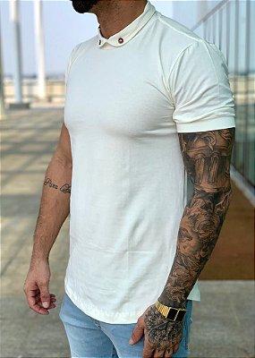 Camiseta Longline Basic Creme - Black West
