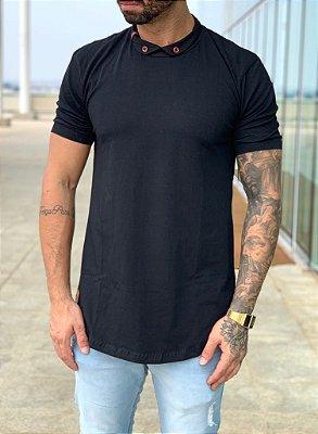 Camiseta Longline Basic Black - Black West