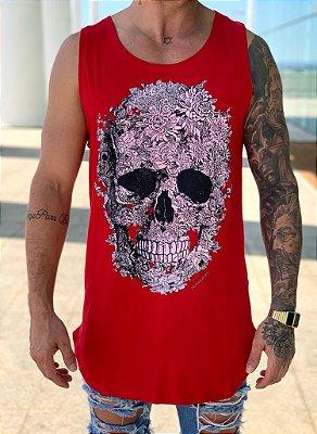 Regata Longline Skull Red - Kawipii