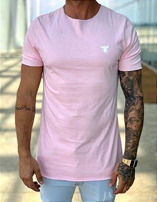 T-Shirt Long Básica Rosa 10 - Totanka
