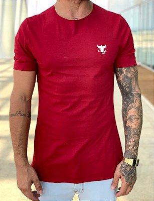 T-Shirt Long Básica Bordô 10 - Totanka