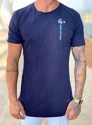 Camiseta Longline Botonê Azul Skull - Kreta