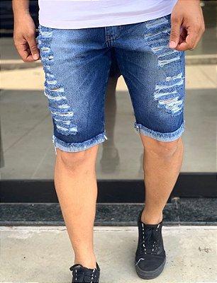 Bermuda Jeans Blue Destroyed - Kawipii
