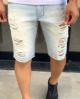 Bermuda Jeans Dirty Destroyed - Kawipii