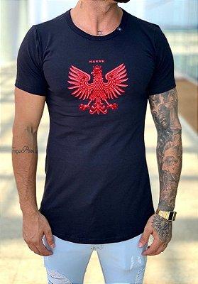 Camiseta Longline Blazon Preta - Nakyk