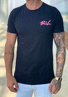T-Shirt Long Tela Costas Preto - Buh