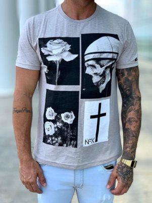 T-Shirt Mescla Flamê - NFK