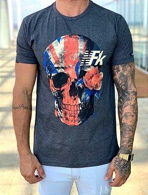 T-shirt Mescla Skull E.U.A - NFK
