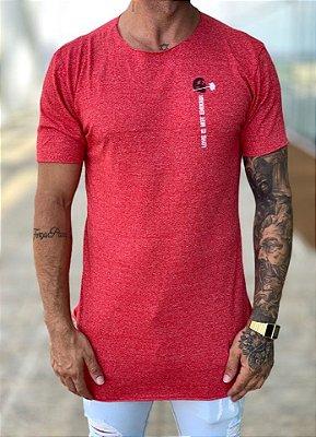 Camiseta Longline Red Love is Not - Kreta