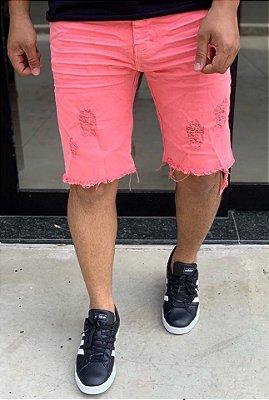 Bermuda Sarja Fluor Pink - Degrant