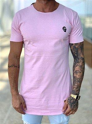 Camiseta Longline Light Pink Skull - Kreta
