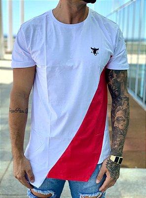 Camiseta Longline White Rosa - Totanka