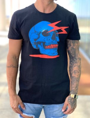 Camiseta Longine Black Skull Rays - Totanka