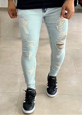 Calça Jeans Skinny Destroyed Bristol - Creed Jeans