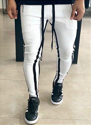 Calça Neoprene White Stripes Black - Kovauk