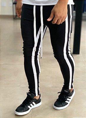 Calça Neoprene Black Stripes White - Kovauk