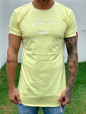 Camiseta Longline Yellow Never- jtk