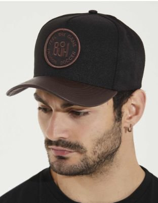 Boné Snapback Feel The Game Black & Brown - Buh