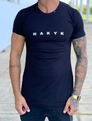 Camiseta Longline Black Stuff Silver - Nakyk